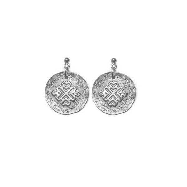 artemis silver stud earrings pekidesign