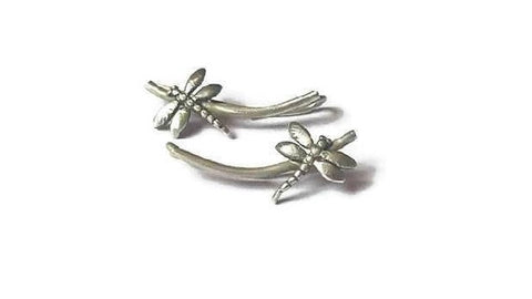 Dragonfly ear climber earrings