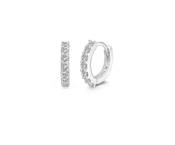 Tiny CZ huggie Hoop earrings