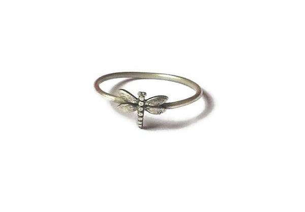 Dragonfly dainty ring made of Sterling Silver 925