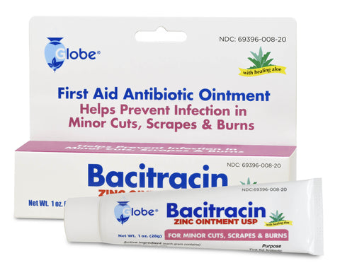 Globe Bacitracin Zinc Ointment w/Aloe - 1oz Tube