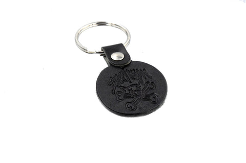 Dogtown Pig & Bones Leather Keychain
