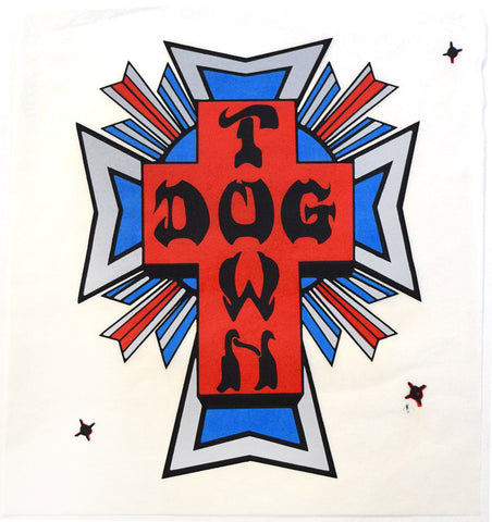 Dogtown Surfboard Laminate Sheet Cross Logo
