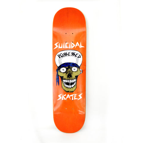 "Suicidal Skates Punk Skull Street Deck 8.25"" - Assorted Stains"