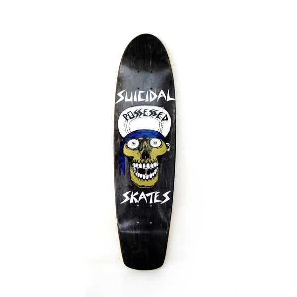 "Suicidal Skates Punk Skull cruiser deck 7.875"" X 30.25"" - Assorted Stains"