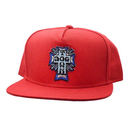 Dogtown Blue Cross Patch Snapback Hat
