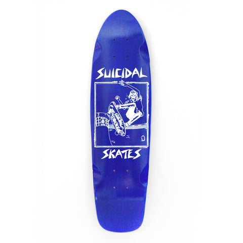 Suicidal Skates Pool Skater Cruiser Deck (Screen Printed) - 7.75 x 28.5