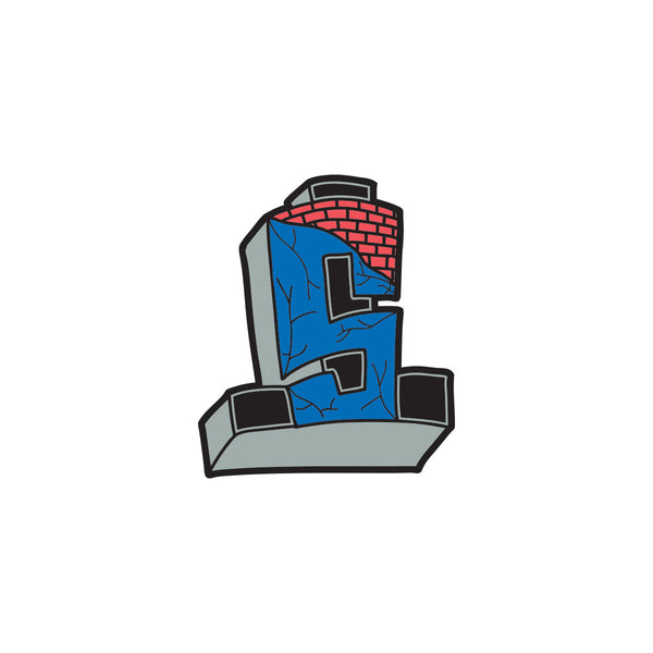 Suicidal Enamel Pin Cross Logo Color