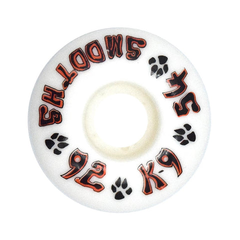 Dogtown K-9 Smooths Wheels 54mm x 92a - White (Set of 4)
