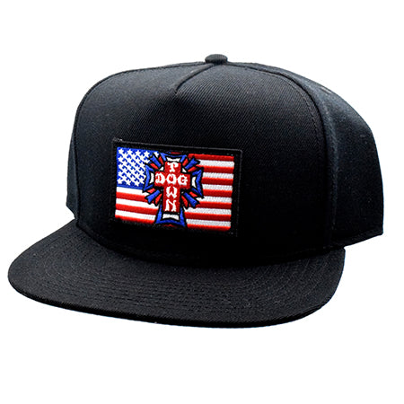 Dogtown Flag Patch Snapback Hat