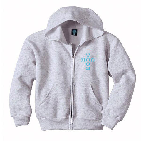 Dogtown Zip Hooded Sweatshirt Cross Logo Color