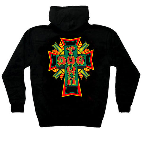 Dogtown Zip Hooded Sweatshirt Cross Logo Rasta