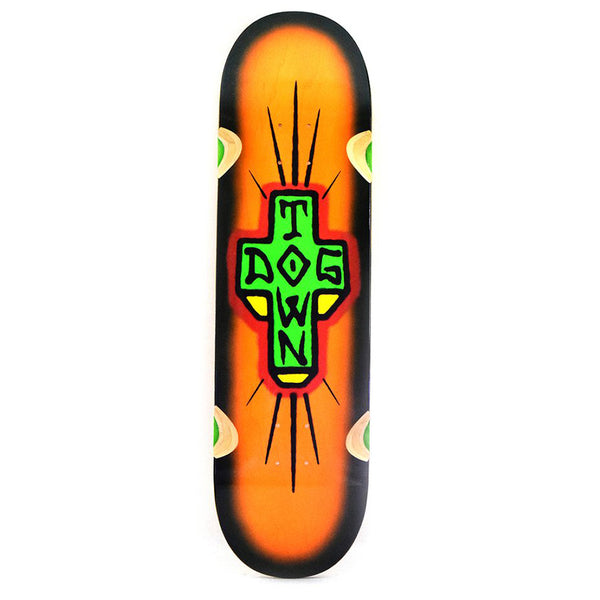 "Dogtown Spray Cross 'Loose Trucks' Deck - 8.75"" x 32.75 - Orange / Black Fade"