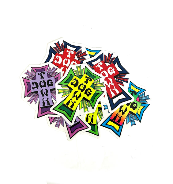 Dogtown Cross Logo Stickers 10 Pack (Assorted)