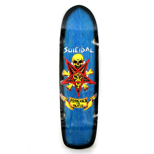 "Suicidal Possessed to Skate Deck 8.75"" x 32.5"" - Assorted Stains"