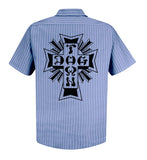 Dogtown Workshirt - Blue Striped Shortsleeve