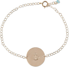Ocean Coin Bracelet (Anchor)