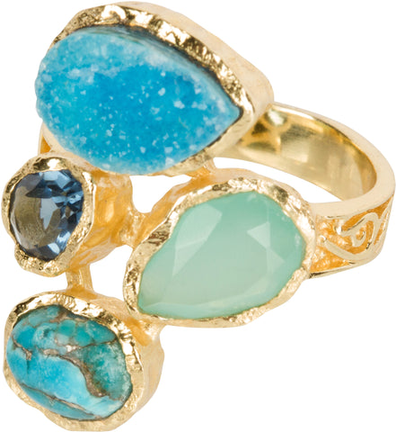 Druzy Statement Ring