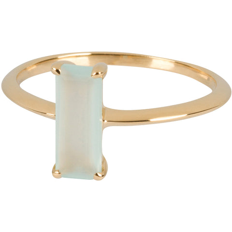 Aqua Emerald-cut Ring