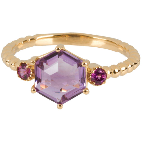 Amethyst and Garnet Ring