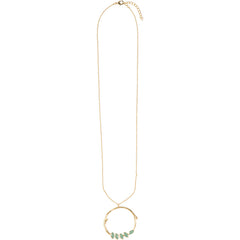 Organic aqua circle necklace