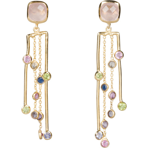Multi-Gem Earrings