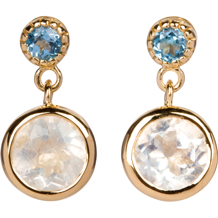 Moonstone and Topaz Earrings