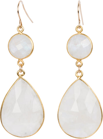 Mahina Moonstone Earrings