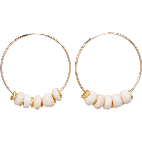 Puka Gold Shell Earrings