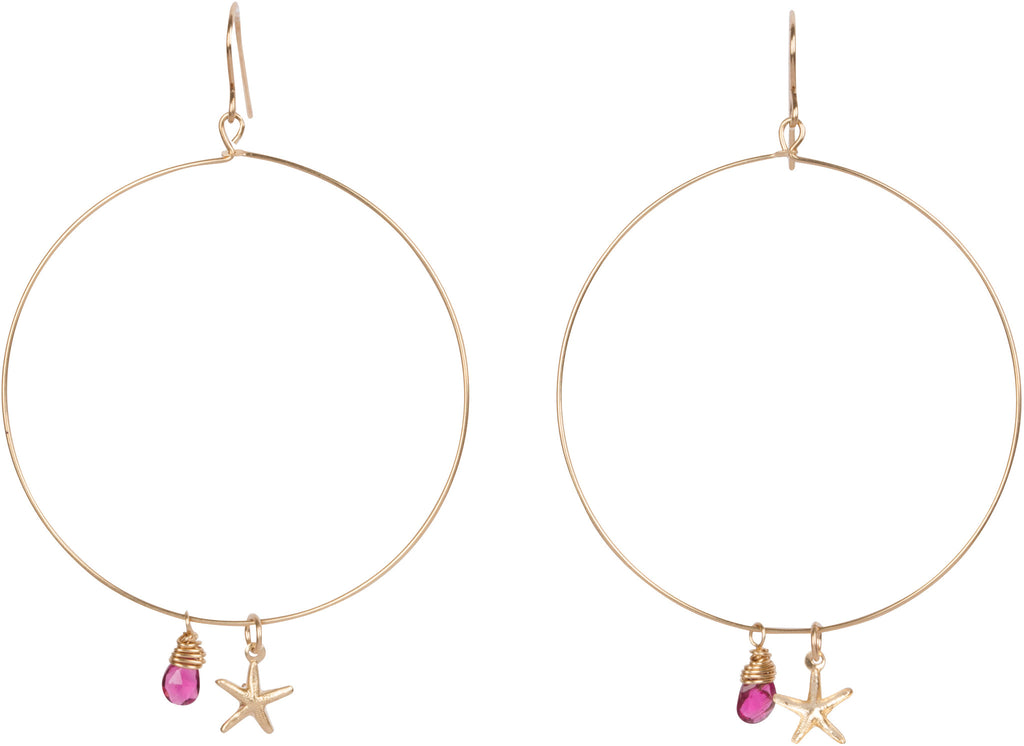 Starfish Gold Hoops