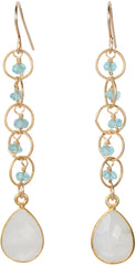 Fleur moonstone drop Earrings