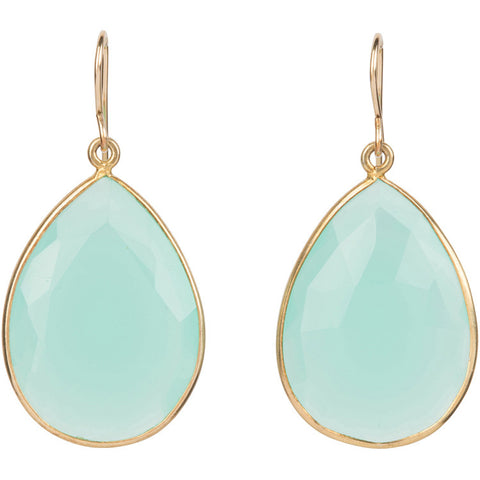 Elize Aqua teardrop earrings
