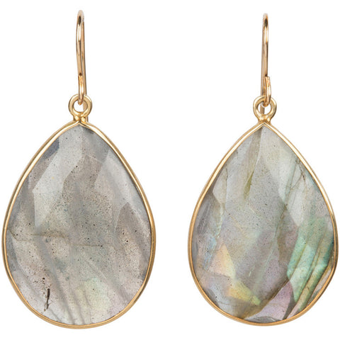 Elize Labradorite teardrop earrings