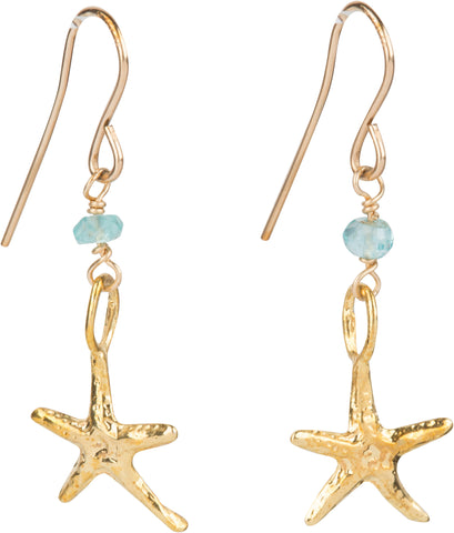 Starfish gemstone earrings