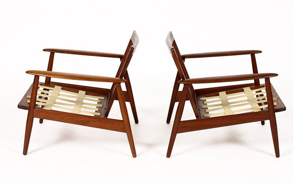 Mid-Century Lounge Chairs for Moreddi in African Teak - City of Z Design
