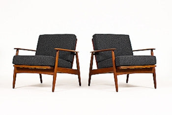 Rare, Pair of Mid-Century Lounge Chairs for Moreddi in African Teak