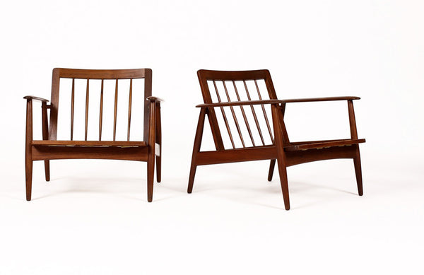 Mid Century Lounge Chairs For Moreddi In African Teak   City Of Z Design