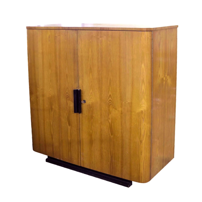 Vintage Deco Oak Cabinet / Bar - City of Z Design