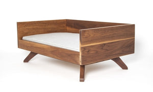 Mid-Century Inspired Modern Wood Dog Bed, Joey High Back by Pup & Kit - City of Z Design