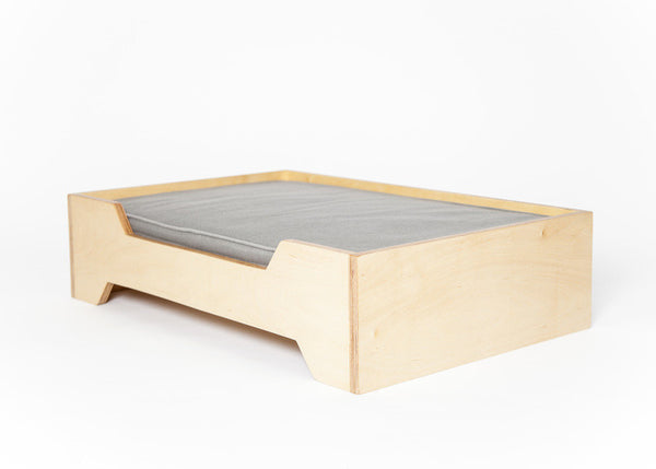 Mid-Century Modern Dog Bed in Maple, Birch, Walnut, Cherry or Oak - City of Z Design
