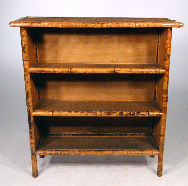 Vintage Tiger Bamboo Open Shelf Unit