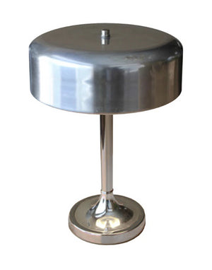 Load image into Gallery viewer, Vintage 1930's Nickel Plated Bauhaus Desk Lamp - City of Z Design
