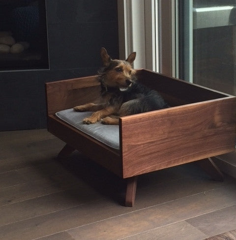 Mid-Century Modern Dog Bed, Joey High Back