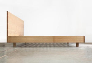 Hand-Built Solid Wood Headboard and Frame from Chadhaus - City of Z Design