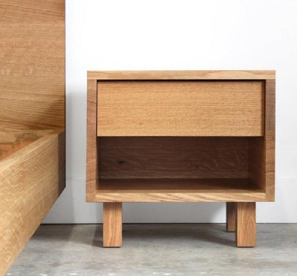 Hand Crafted Solid Wood Side Table - Hanko Series - Chadhaus