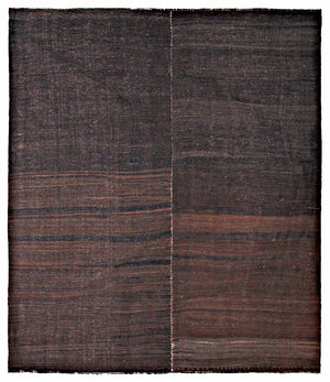 Vintage Chador Kilim Flatweave Rug in Brown Tones - City of Z Design