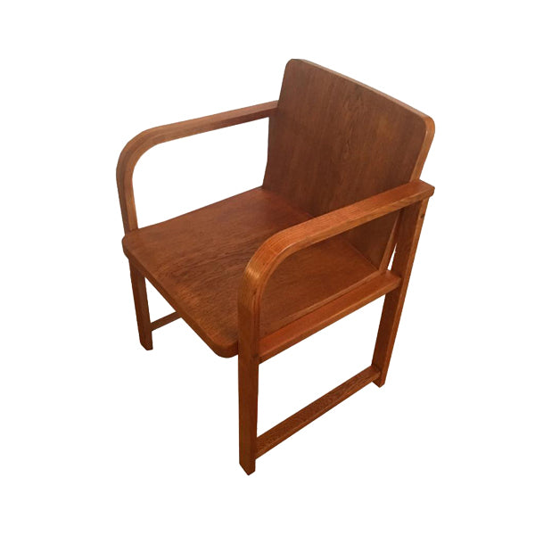 Load image into Gallery viewer, Vintage Art Deco Armchair in Oak - City of Z Design