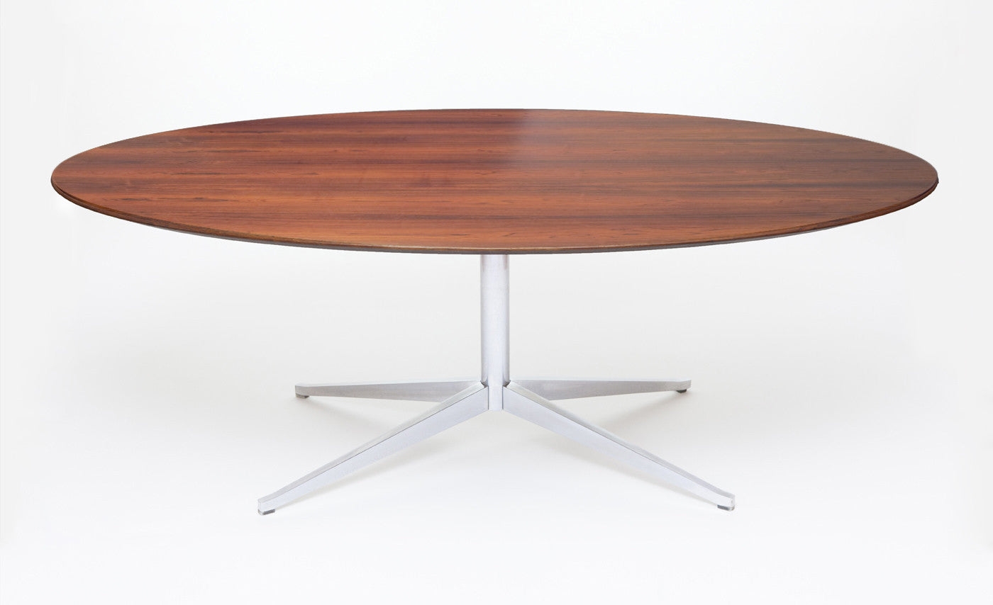 Vintage Knoll Dining Or Conference Table In Rosewood   City Of Z Design