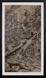 Original Pen & Ink Metropolis - City of Z Design