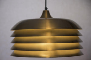 Pair of Large, Vintage Mid-Century Aluminum Pendants by Hans-Agne Jakobsson - City of Z Design